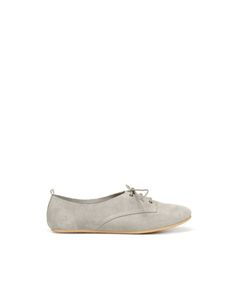 Suede Blucher Oxfords in COLOR NOT AVAILABLE. OKAY ZARA.COM. $49.90