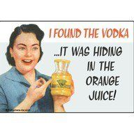 There it was....sneaky vodka!