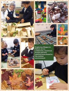 """'Exploring shapes in nature as we collaborate, construct, design & sort natural items found in the outdoor environment' - from Richland Academy ("""",)"""