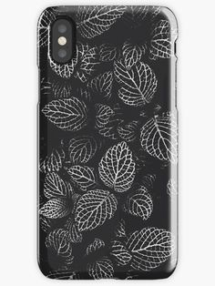 Get lost in the woods. Beautiful, nature inspired modern black and white leaf pattern. Diy Phone Case, Iphone Phone Cases, Iphone Case Covers, Iphone Macbook, Phone Hacks, Phone Organization, Phone Photography, Iphone Wallpaper, Wood Wallpaper