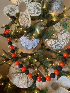 DIY Ball Garland - The Shabby Tree