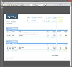One of many billing and accounting forms at mobile time-tracking app for different devices. Read more here: http://ceiton.com/blog/en/mobile-time-tracking/