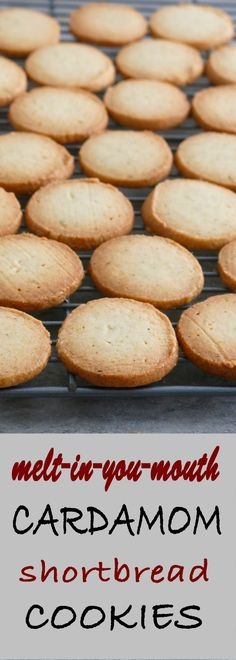 Buttery, crisp and mildly sweet cardamom cookies are so soft that they truly melt in your mouth! These melt in your mouth cardamom shortbread cookies pairs perfectly with your cup of coffee of tea. Tea Cookies, Shortbread Cookies, Indian Cookies, Cookie Recipes, Dessert Recipes, Brownies, Cupcakes, Christmas Baking, Indian Food Recipes