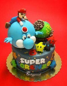Super Mario Galaxy Cake By Torteggiando di Simona - https://www.facebook.com/pages/Torteggiando-di-Simona/160772910727826 - (cakesdecor)