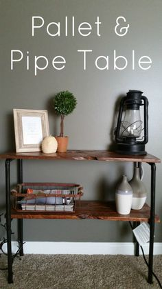 Pallet and Pipe Table From My Own Home Blog