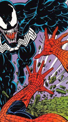 "comicbookvault: ""AMAZING SPIDER-MAN #332 By Erik Larsen "" Marvel - Venom"
