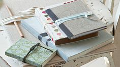 How to make fabric-covered notebooks