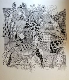 zentangle patterns really cool.for a tat, wall art, backdrop, love it