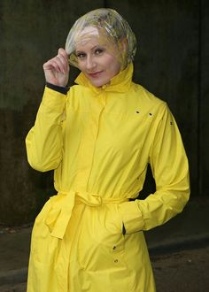Raincoat Jacket, Yellow Raincoat, Rain Jacket, Rain Bonnet, Plastic Raincoat, Rain Wear, Rainy Days, Windbreaker, Women Wear