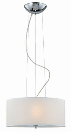 Lite Source LS-19148 Olwen 18-Inch Ceiling Lamp, Chrome with White Paper Shade - Amazon.com