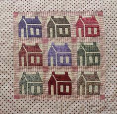 Schoolhouse Mini Patchwork Quilt