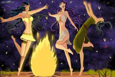 La danse autour du feu ! http://visionmanga.webatu by JeremyNdjock.deviantart.com on @DeviantArt