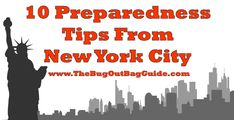 10 Preparedness Lessons From Living In NYC | The Bug Out Bag Guide | #prepbloggers #urban