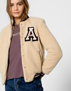 Fur bomber jacket - Coats and jackets - Clothing - Woman - PULL&BEAR United Kingdom