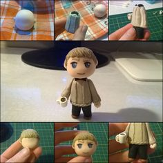 Polymer clay (Fimo) John Watson #bbc #Sherlock by @sophiekaetzchen http://sophiekaetzchen.blogspot.de/2015/12/10-diy-dienstag-fimo-figuren.html