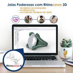 Curso Joias Poderosas com Rhinoceros 3D  Do zero ao avançado no Rhino e na Profissão Designer e Modelista 3D de Joias  Conheça o Curso ♥    #curso #designdejoias #designerdejoias #joiascomrhinoceros #joias #semijoias #bijuterias #dessign #desenhodejoias #ilustraçãodejoias