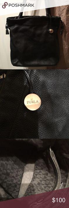 Furla Black Leather Purse Genuine leather! Beautiful black Furla purse. Furla Bags