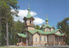 Temple Pyhän Nikolaoksen kirkko à Joensuu - Carte reçue de Finlande - Distance: 2,559 km (1,590 miles) - Travel time: 6 days