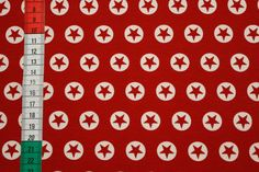 Stoffe gemustert -  Baumwolljersey   mit Sternen rot / weiß - ein Designerstück von Dorelore bei DaWanda 9 And 10, Designer, Calendar, Etsy, Holiday Decor, Home Decor, Stars, Cotton, Decoration Home