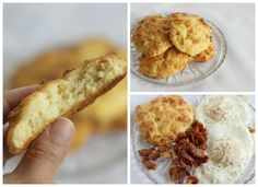 Enjoy these healthy coconut flour biscuits with a side of eggs and bacon. They're gluten free and low in carbohydrates.