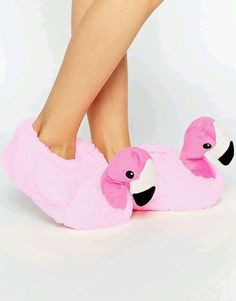 Buy New Look Flamingo Novelty Slippers at ASOS. Get the latest trends with ASOS now. Bedroom Slippers, Cute Slippers, Mickey Y Minnie, Everything Pink, Pink Flamingos, Me Too Shoes, New Look, Shoe Boots, Asos