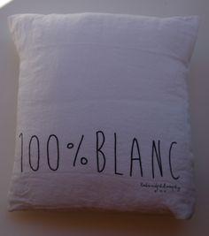 bedandphilosophy pellavatyyny 100%BLANC 35x35cm . puhdas valkoinen . tilapäisesti loppu