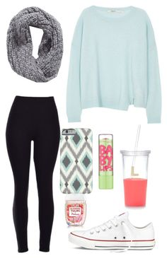 """Ootd"" by eadurbala08 ❤ liked on Polyvore featuring J Brand, Collection XIIX, Converse, Maybelline and Kate Spade"