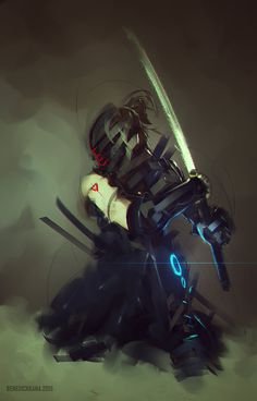 Robot Ninja, Benedick Bana on ArtStation at https://www.artstation.com/artwork/robot-ninja
