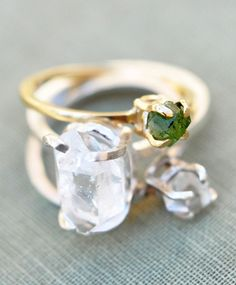 Erica Weiner Solitaire Emerald Ring