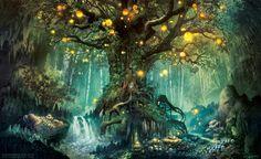 Dim Light Forest by Ferdinand Ladera