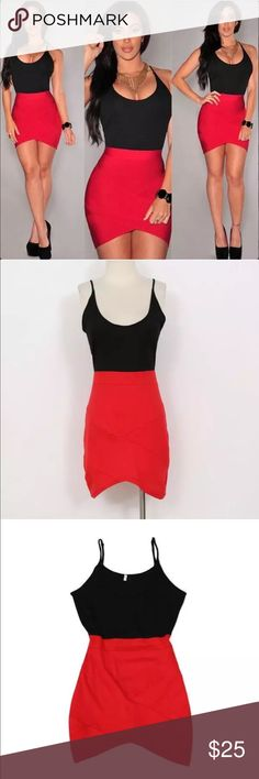 ❗️New❗2016 Black & Red Irregular Hem Dress Women Black and red Hit color Stitching Sling Sleeveless Irregular front Center Hem Dress Condition: 100% Brand New Material: Polyester Color: Red & Black Size: Asian size S (Bust: 85-88cm, Waist: 65-67cm, Hip: 91-94cm, Shoulder: 37-39cm, Sleeve: 15-17cm, Length: 72-74cm) Sleeve Style: Sleeveless (adjustable Spaghetti Strap) Occasion: Any Pattern: Solid- thin & light Item Includes: 1 X Women Sexy Mini dress Boutique Dresses Mini