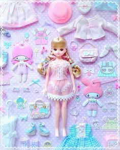 きせかえあそび  *    まゆさんのお洋服いっぱい  *   #リカちゃん #licca  #liccadoll #doll #kawaii #mymelody #マイメロディ #littletwinstars #キキララ #sanrio   #ファンシー #ゆめかわいい #リカちゃんとサンリオ