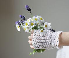 White Lace Gloves  Wedding Fingerless Crocheted by SENNURSASA, $24.00