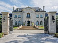 Traditional French architecture detailed out to the int degree, from studs to in. - Traditional French architecture detailed out to the int degree, from studs to interior design, RDDA - French Chateau Homes, French Style Homes, French Mansion, Dream Home Design, Home Design Plans, House Design, Style At Home, Design Exterior, Stone Exterior