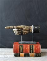 Vintage Style Pointing Hand Sculpture
