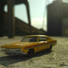Car in the button shine