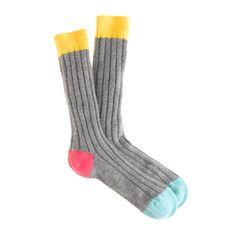 Curled up + cozy. Richard James® cashmere socks.