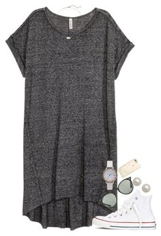 """""""but first, coffee.☕️"""" by isabella813 ❤ liked on Polyvore featuring Converse, Ray-Ban, Honora, Olivia Burton, Kendra Scott and Casetify"""