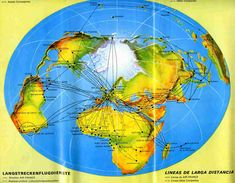 Air France Route Map 1967 #flatearth