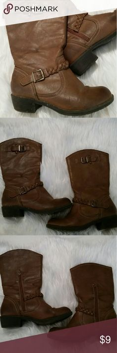 Brown boots CLEARANCE! Short boots with zipper Ralph Shoes Ankle Boots & Booties