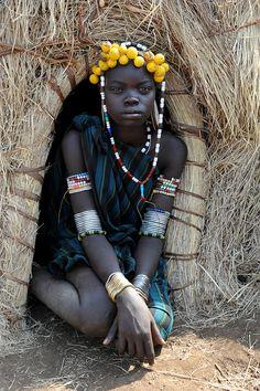 Mursi girl - Omo Valley by Jean-Christophe Huet