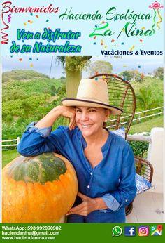 Eco-Hacienda La Nina.  Vacaciones y eventos al aire libre. #boda #cumpleaños #viajes #vacaciones  Contacto. WhatsApp: 09-92090982  Correo: haciendanina@gmail.com