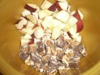 Snicker Apple Salad - just add snickers, apples, cool whip & vanilla pudding.  Voila!  A sure crowd pleaser!