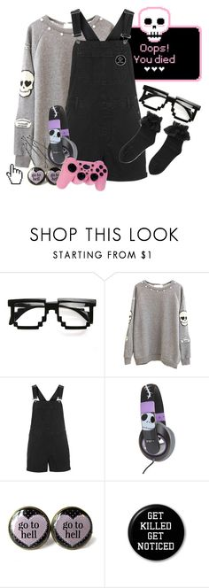 """""""Let's play"""" by bandaidkid ❤ liked on Polyvore featuring Topshop, Burton, Microsoft, cute, pastelgoth, kawaii and harajuku"""