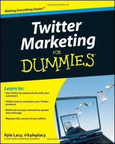 Need Twitter marketing ideas? Then be sure to get this book!http://www.dummies.com/store/product/Twitter-Marketing-For-Dummies-2nd-Edition.productCd-0470930578.html