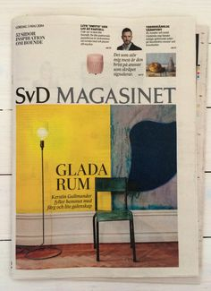 Cord Lamp by Form Us With Love for Design House Stockholm, on the cover of the Swedish newspaper SvD magasinet today.