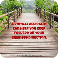 A virtual assistant can help you keep focused on your business direction #virtual assistant #outsourcing #business www.vippa.com.au