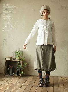 fall / winter style inspiration: Mori Girl style