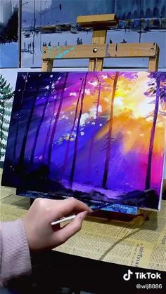 Imagination Art, Canvas Painting Tutorials, Easy Canvas Art, Art Drawings Beautiful, Pastel Art, Art Lessons, Creative Art, Watercolor Art, Art Projects
