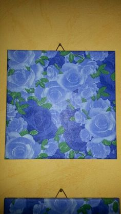 Serviettentechnik Rosen Blau
